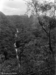 Devils Bridge, The Falls And Hotel 1925