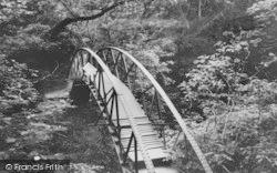 Devils Bridge, The Footbridge c.1955