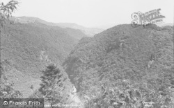 Devils Bridge, View From Hafod Arms Hotel c.1955