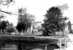 Devizes, St James' Church And Pond c.1950