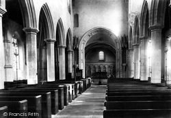 Devizes, St Mary's Church, Interior 1898
