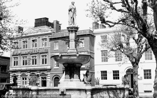 Devizes, the Fountain, Market Place c1955