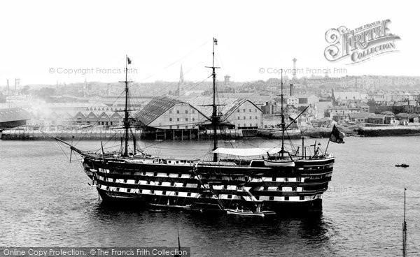 Photo of Devonport, H.M.S. Royal Adelaide 1890