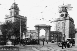 Devonport, Royal Naval Dockyard Gate 1907