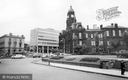 Town Hall Square c.1965, Dewsbury