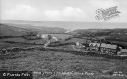 Aber Bach From The Castle c.1955, Dinas Cross