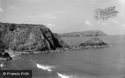 Dinas Cross, And Cat Rock c.1930