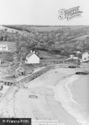 Dinas Cross, Beach Showing Old Church, Cwm-Yr-Eglwys c.1955