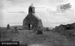 Dinas Cross, Remains Of St Brychan's Church c.1930