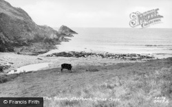 Dinas Cross, The Beach, Aber Bach c.1955