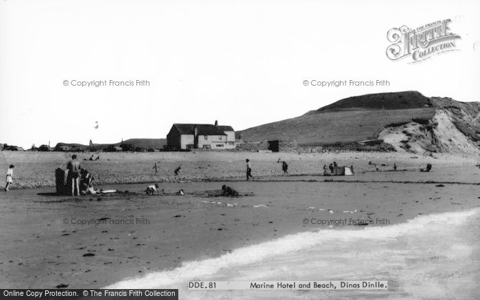 Photo of Dinas Dinlle, Marine Hotel And Beach c.1960