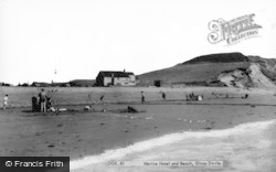 Dinas Dinlle, Marine Hotel And Beach c.1960
