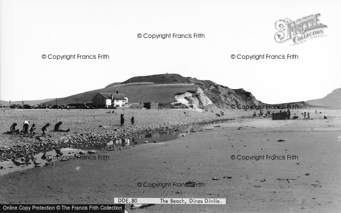 Photo of Dinas Dinlle, The Beach c.1960