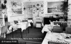 Dinas Dinlle, The Dining Room, Marine Hotel c.1960