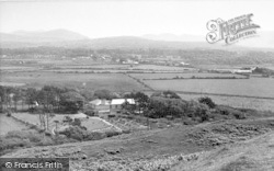 Dinas Dinlle, The Mountains From Dinas Dinlle c.1955