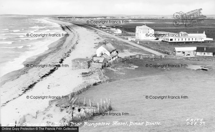 Photo of Dinas Dinlle, The Shore And Bryn Mor Bungalow c.1955