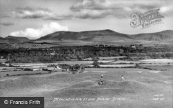 View Of Mountains c.1955, Dinas Dinlle