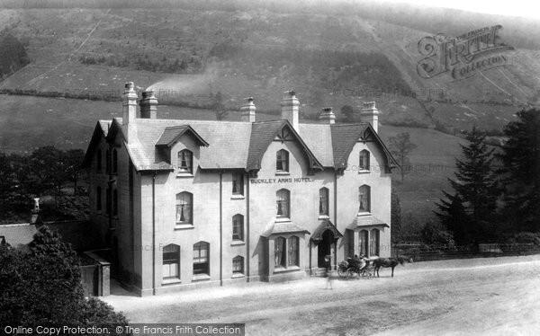 Photo of Dinas Mawddwy, Buckley Arms Hotel 1896