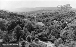 Dinas Mawddwy, View From Dinas Rock c.1955, Dinas-Mawddwy