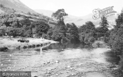 Dinas Mawddwy, View From River c.1960