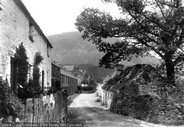 Photo of Dinas Mawddwy, Village 1896