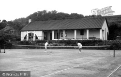 Dinas Powis, The Tennis Courts c.1955