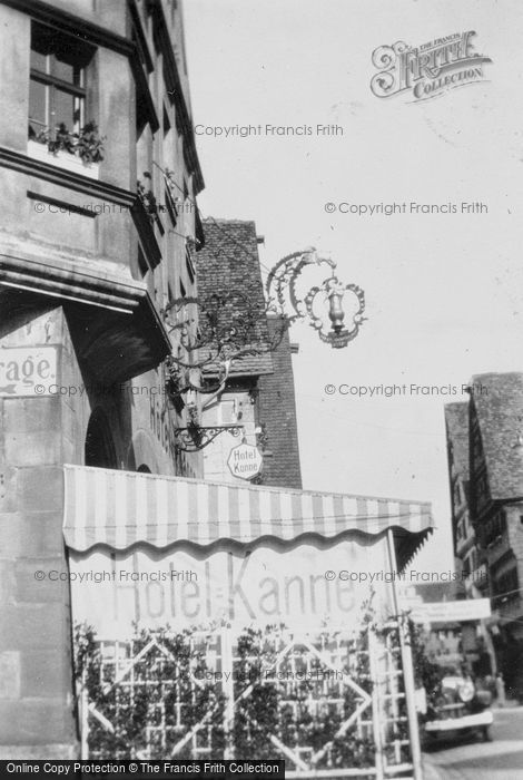 Photo of Dinkelsbuhl, Hotel Kanne c.1939