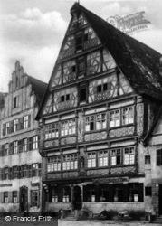 House Built In 1523 c.1925, Dinkelsbuhl