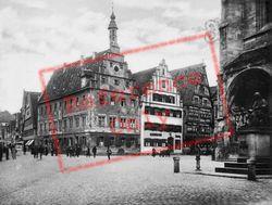 Market Square And Christoph Von Schmid Monument c.1935, Dinkelsbuhl