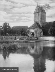 Tower From River c.1935, Dinkelsbuhl