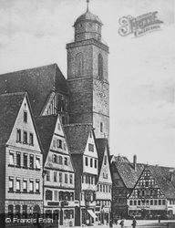 Wine Market And Church Of St George c.1925, Dinkelsbuhl