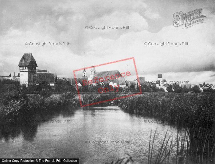 Photo of Dinkelsbuhl, Wörnitz River c.1935