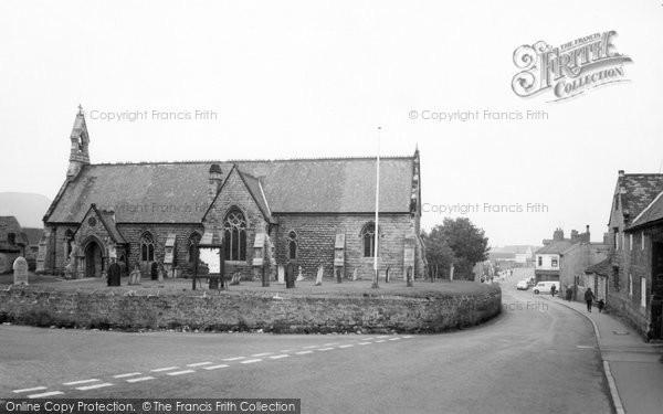Dinnington, Parish Church and Laughton Road c1965
