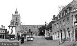 Diss, Market Place c.1955
