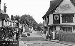Diss, Mount Street And Saracens Head c.1955