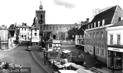 Diss, The Market Place c.1960