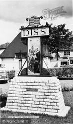 Diss, The Town Sign c.1965