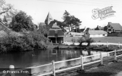 Ditchling, St Margaret's Church And Pond c.1965