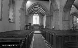 Ditchling, St Margaret's Church Interior c.1960