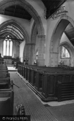Ditchling, St Margaret's Church Interior c.1960