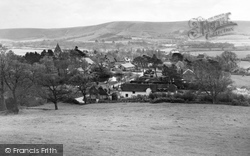 Ditchling, View From Lodge Hill c.1955