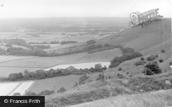 Ditchling, View From The Downs c.1955
