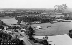 Ditchling, View Over Downs c.1955
