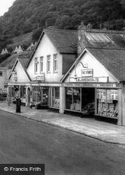 The Village Shops And Post Office c.1955, Dolgarrog