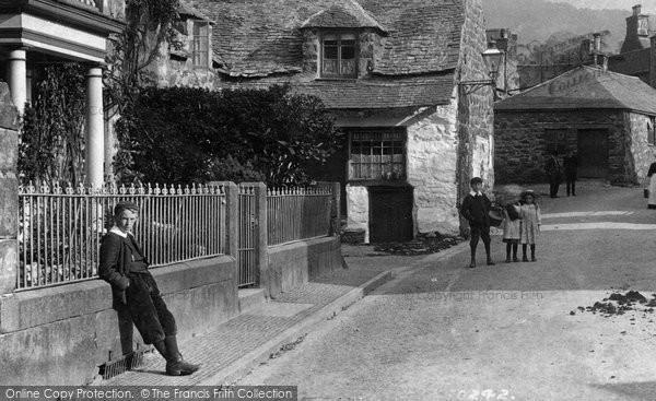 Photo of Dolgellau, Children In Meyrick Street 1908