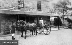 Dolgellau, Coach And Pair At Brynhyfryd c.1900
