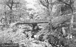 Dolgellau, Torrent Walk Footbridge 1888