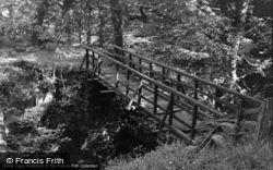 Dolgellau, Wooden Bridge, The Torrent Walk 1952