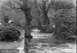 Dolgoch, River Fathew And Bridge 1932
