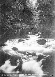 Dolgoch, Stream Above Lower Falls c.1935